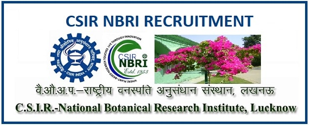 CSIR NBRI Lucknow Technician Recruitment 2019