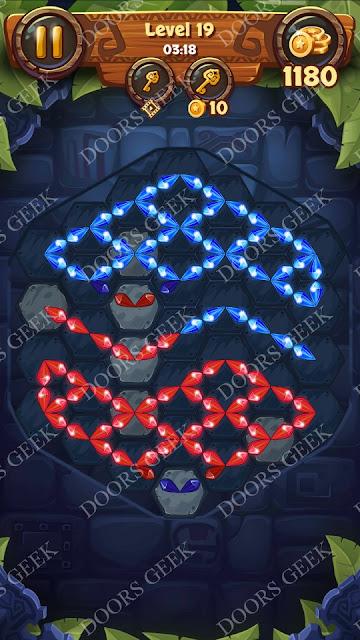 Gems & Magic [Aquamarine] Level 19 Solution, Walkthrough, Cheats