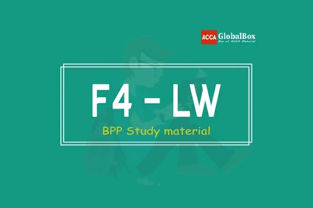 [2020] | F4 - (LW) English & Global | Corporate and Business Law | BPP Study Material