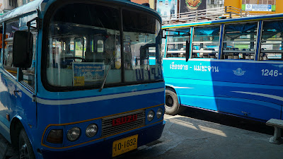 You can take the blue colored bus at platform #8 from Chiang Rai Bus Station 1 to Wat Rong Khun for only 20 baht