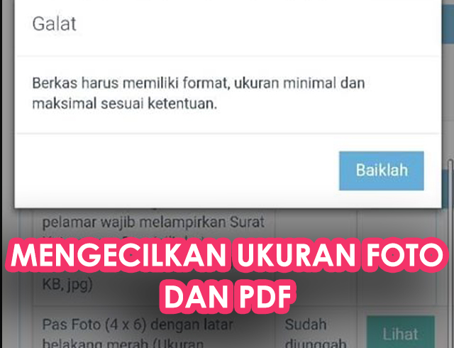 Cara Mengecilkan Ukuran Foto dan PDF