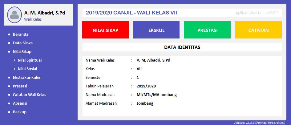 Download Aplikasi Rapor SD/MI Excel v2.3 Terbaru K13 Gratis