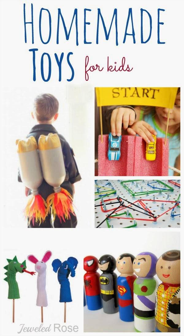 Tons of great homemade toys for kids; Great gift ideas!