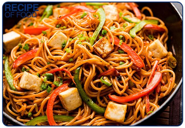 Paneer Hakka Noodles Recipe | Veg Hakka Noodles Recipe