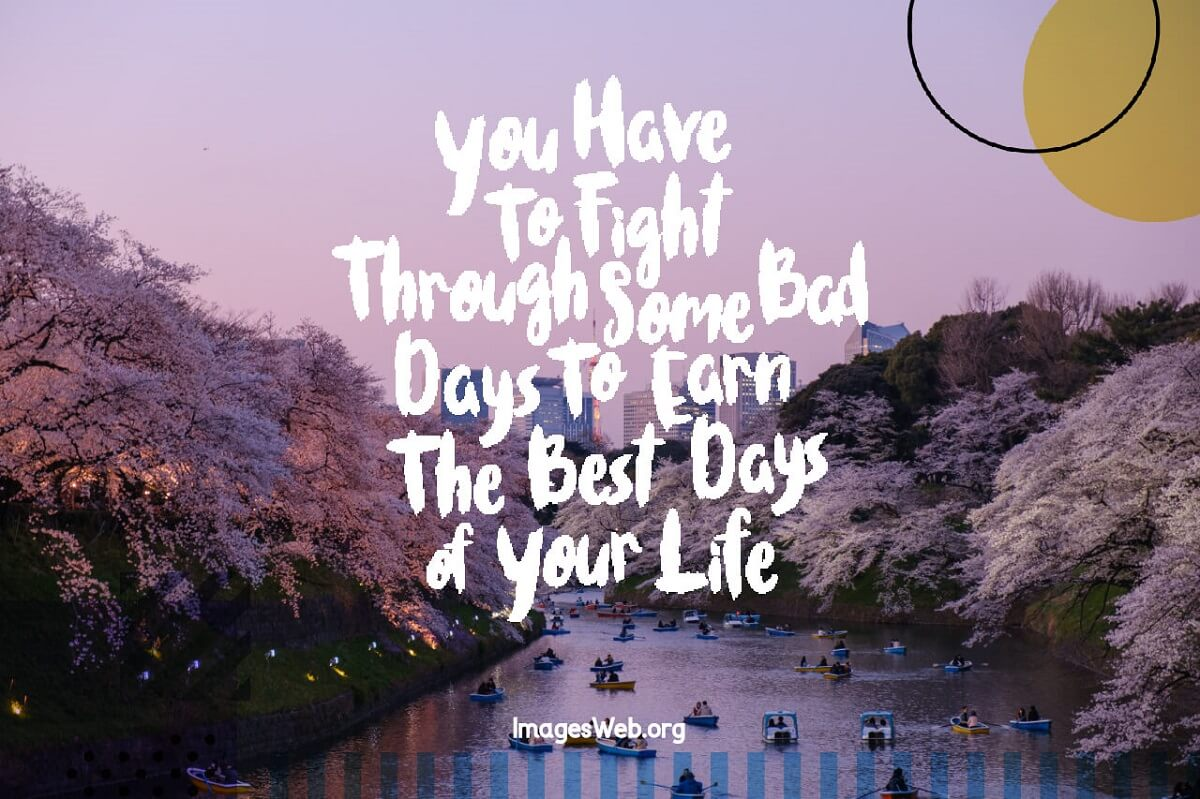 Best Day Thoughts : Does everyone fights through bad days?