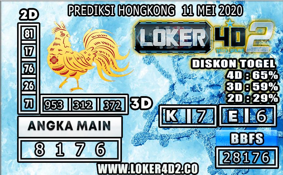PREDIKSI TOGEL HONGKONG LOKER4D2 11 MEI 2020