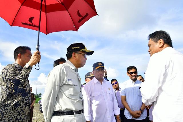 Budi Karya Sumadi, Nurdin Abdullah dan Suardi Saleh Tinjau Pembangunan Pelabuhan Garongkong