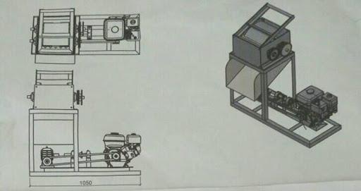 Desain Mesin pengupas Sabut Kelapa