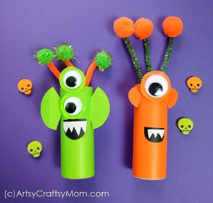 cardboard tube aliens