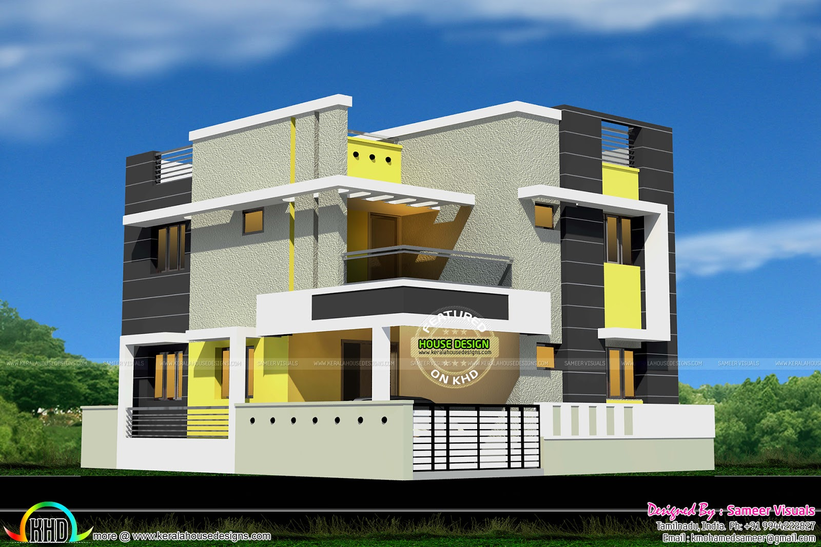 New modern house design kerala home design and floor plans for Home designs in tamilnadu