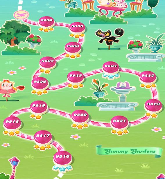 Candy Crush Saga level 9831-9845