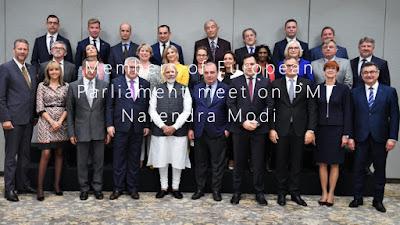 Members of European Parliament meet on PM Narendra Modi