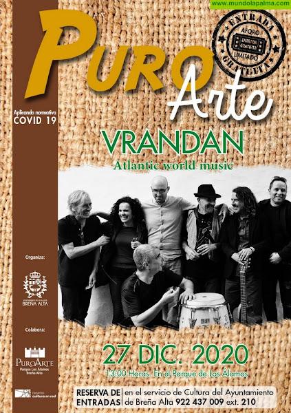 Vrandán y el quinteto Vocal OCIP ponen la banda sonora a la Navidad en Breña Alta en la recta final de 2020