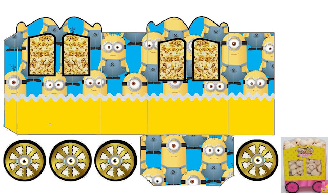 Minions Party Free Printable Carriage Box.