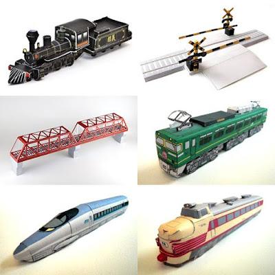 Locomotive Bastelbogen