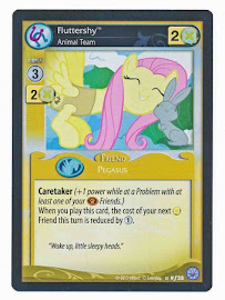 My Little Pony Fluttershy, Animal Team Premiere CCG Card
