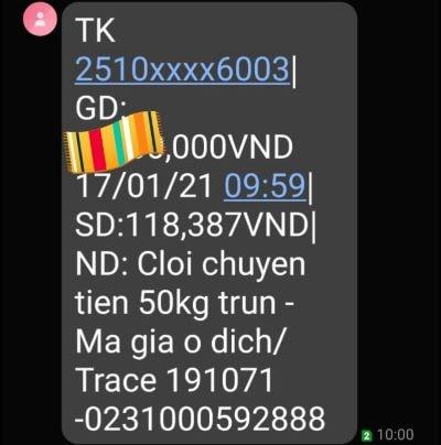 Thanh toán trùn quế Cam Ranh
