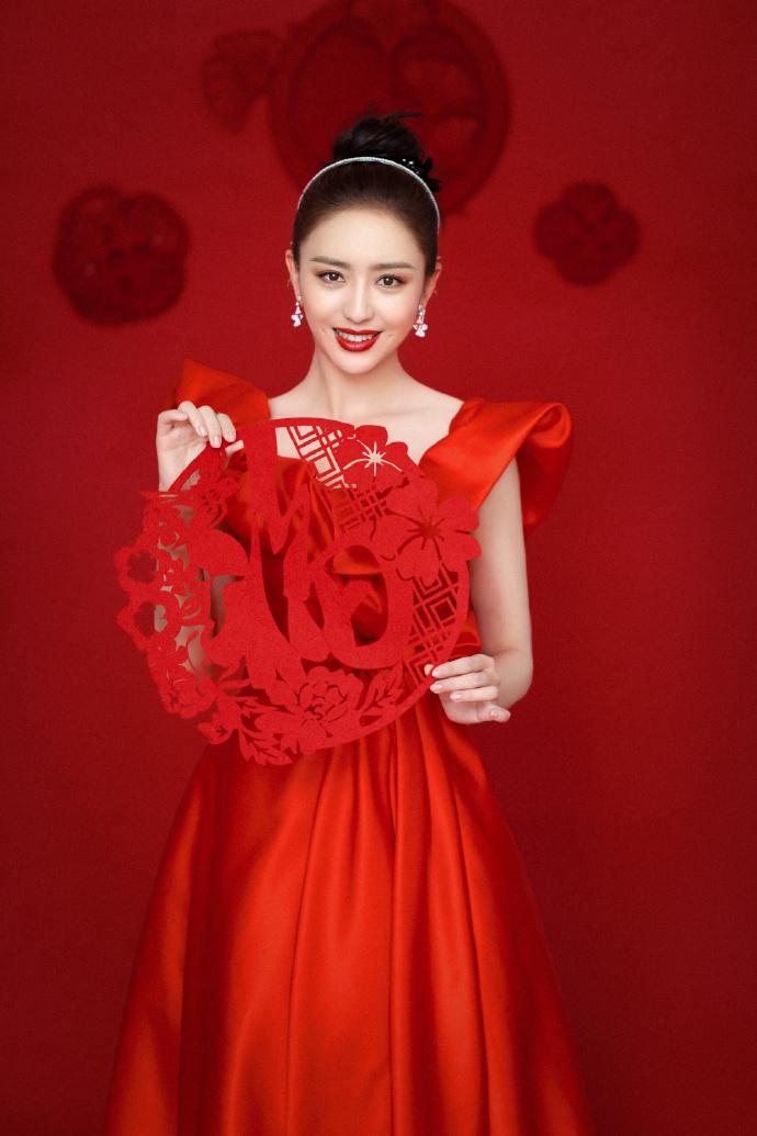 , Tong Liya poses for the 2021 CCTV Spring Festival Gala
