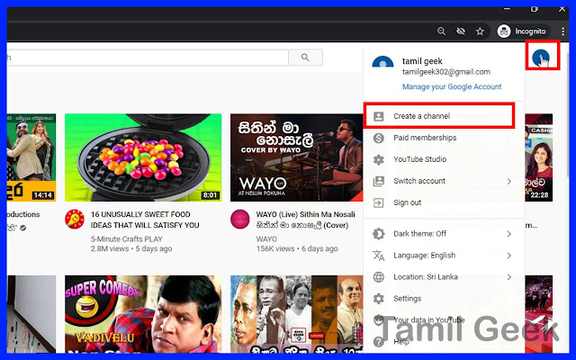 click-create-a-channel-in-Tamil