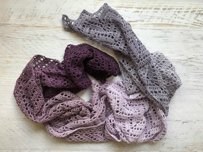 Crochet pattern, Scheepjes Whirl. Zig Zag scarf, by 50 shades of 4ply | Happy in Red