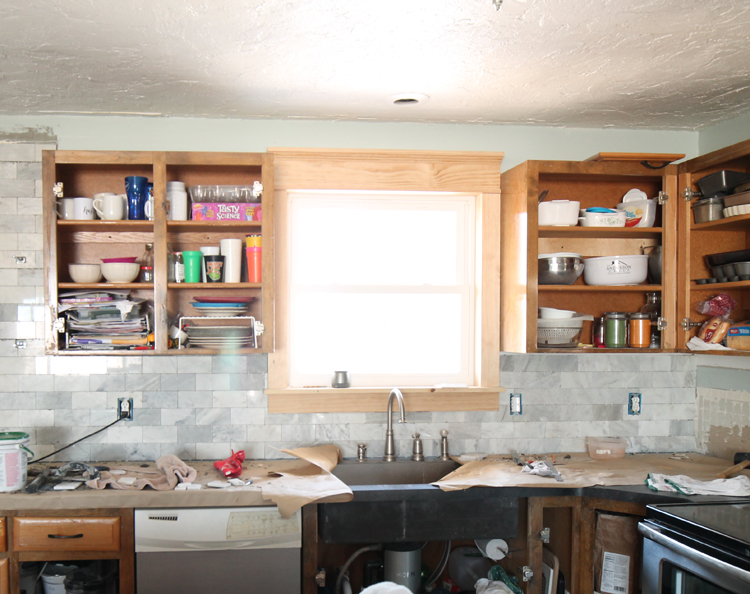The craft patch for Adding crown molding to kitchen cabinets before after