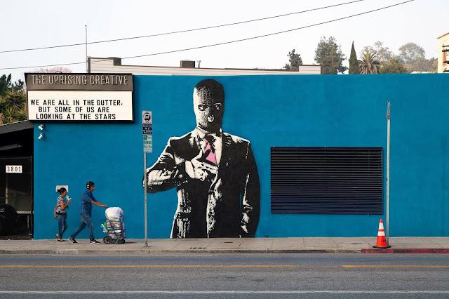 """""""Hangun"""" New Street Art Piece by Norwegian Artist Dot Dot Dot in Los Angeles, USA. 1"""