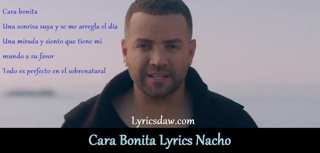 Cara Bonita Lyrics Nacho