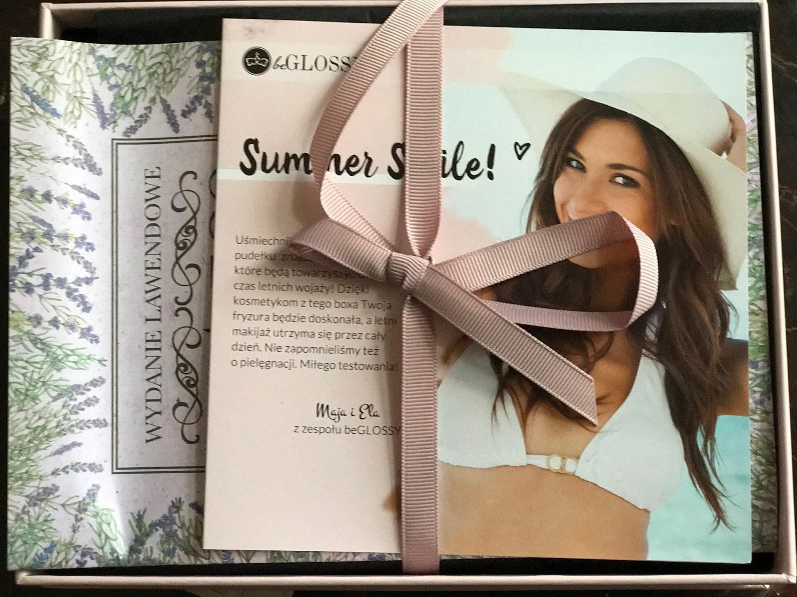BeGlossy prezentacja pudelka Summer Smile