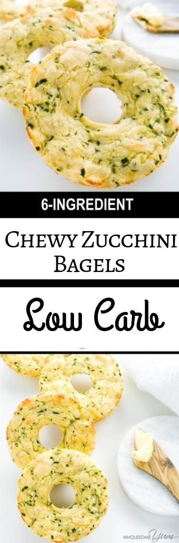 Chewy Zucchini Bagels Low Carb