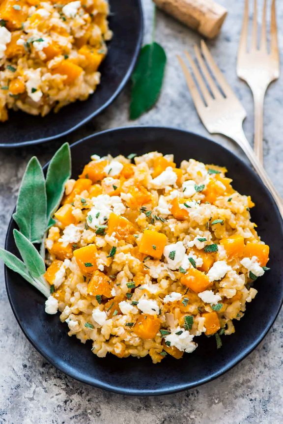 Slow Cooker Butternut Squash Risotto | Land of Honey