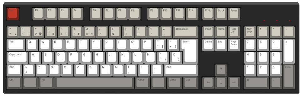 Bandas - Diseño teclado mecánico - dPunisher