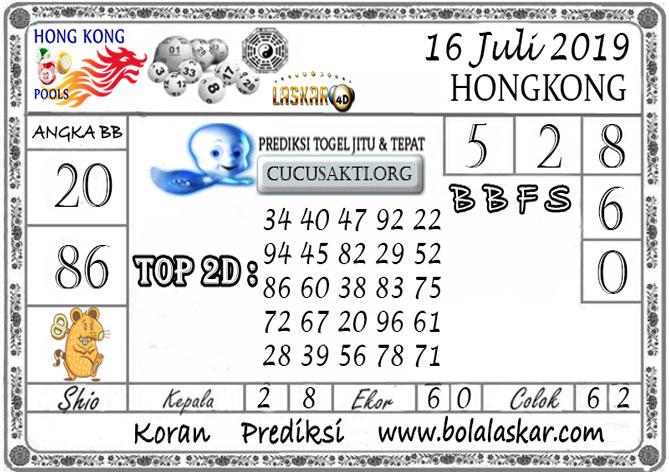 Prediksi Togel HONGKONG LASKAR4D 16 JULI 2019