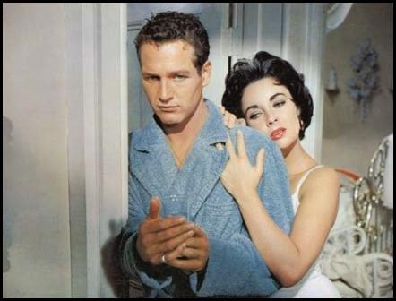 Paul Newman y Elizabeth Taylor en La gata sobre el tejado de zinc (Richard Brooks, 1958)