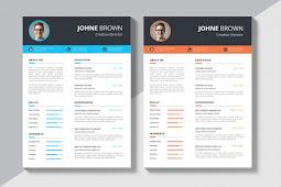 15 Contoh Template Desain CV Menarik Free Download