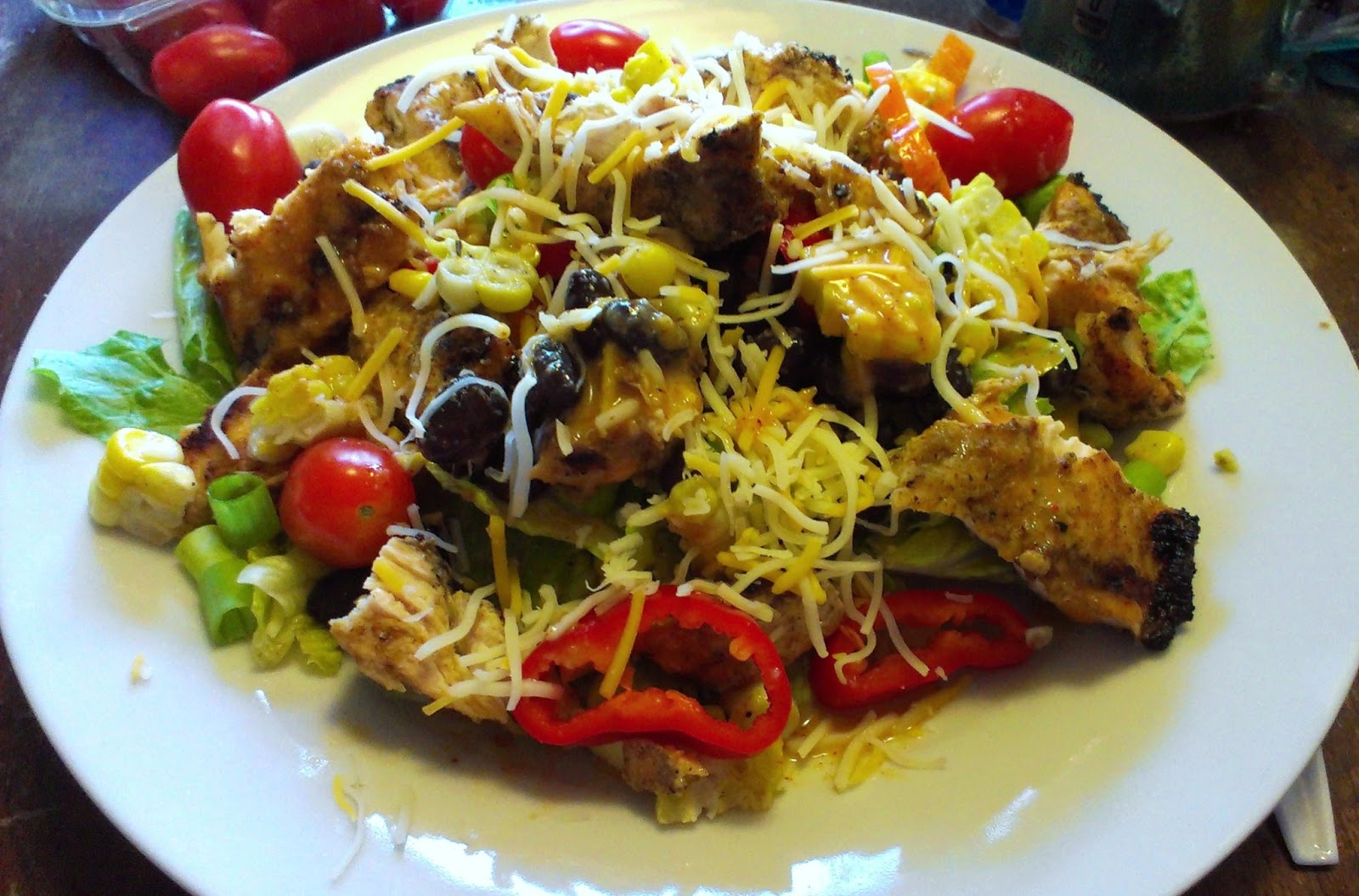 Menu Ideas For Busy Moms Santa Fe Grilled Chicken Salad With Chili Lime Dressing