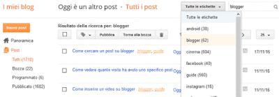 Come cercare un post su blogger