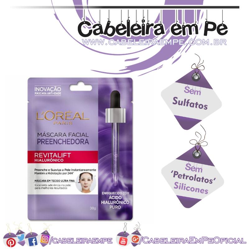 Máscara Facial Preenchedora Revitalift Hialurônico - L'Oréal