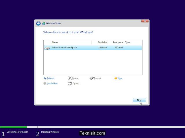 Cara install Windows 10