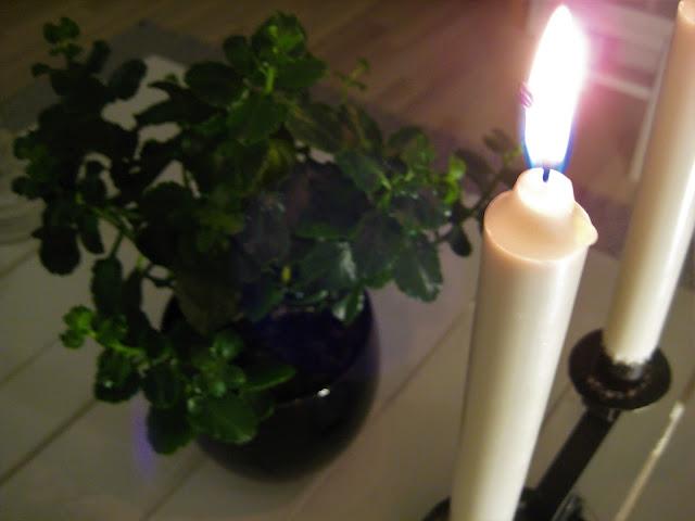 koti, kynttilät