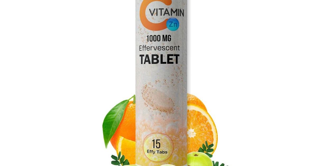 RONCUVITA Natural Vitamin C 1000mg and Zinc   Effervescent Tablets