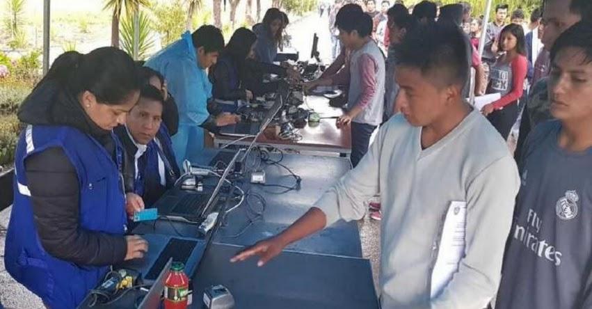 RENIEC verificó identidad de postulantes universitarios en Ayacucho - www.reniec.gob.pe