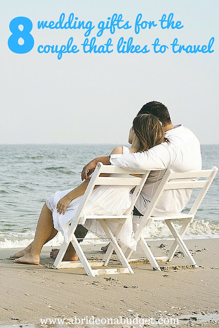 Do you know a couple that loves to travel? Or maybe you're that couple and you need an idea of what to register for. Either way, check out 8 Wedding Gifts For The Couple That Likes To Travel by www.abrideonabudget.com.