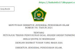 SK Juknis Penyusunan Soal HOTS