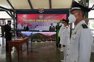 """43 Kades Dilantik Bupati, """"Penggunaan Dana Desa Harus Transparan""""."""