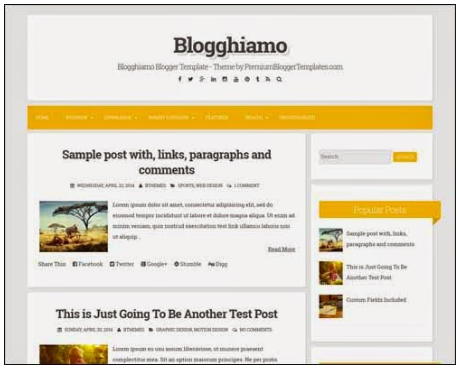 Blogghiamo Blogger Template, Blog Pribadi Jadi Keren