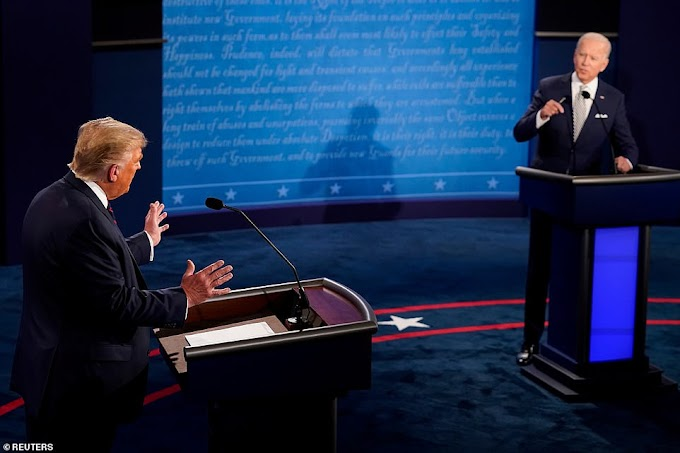 #Debates2020: Will you shut up man?! - Biden tells Donald Trump after he's taunted continuously in messy debate (video)