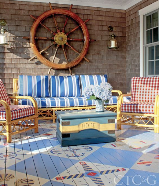 Nautical Porch Floor Painted