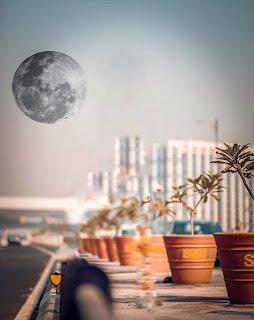 Black Moon CB Background Free Stock Image