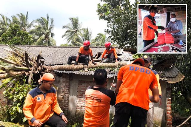 TRC BPBD Lotim salurkan bantuan korban angin kencang