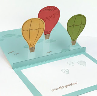VIDEO: Stampin' Up! Above the Clouds Floating Pop-Up Card Tutorial ~ www.juliedavison.com #stampinup